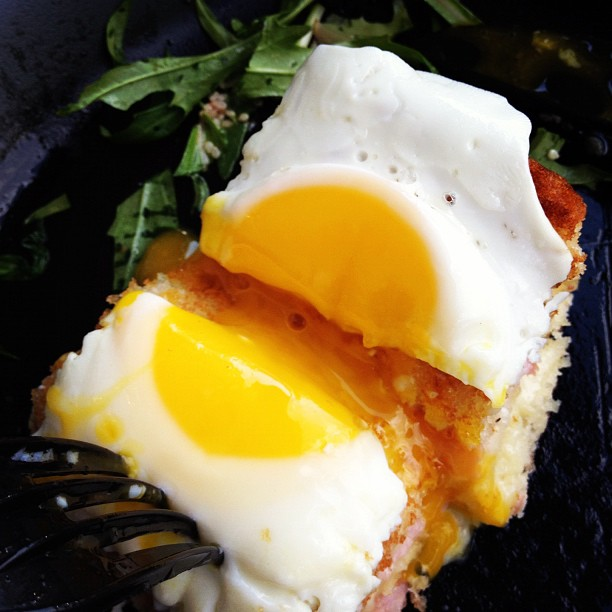 A recently murdered Croque-Madame