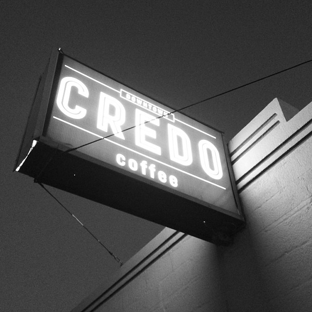 Downtown Credo's Sign