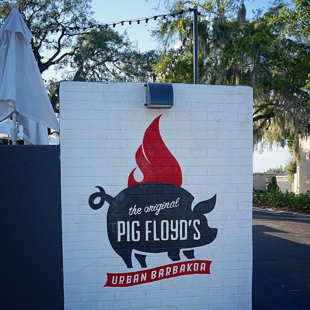 The Pig Floyd's sign