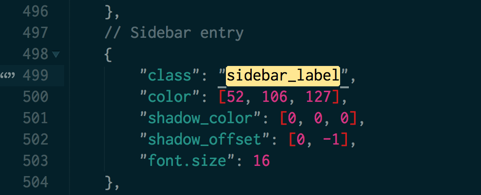 Screenshot of the sidebar_label property